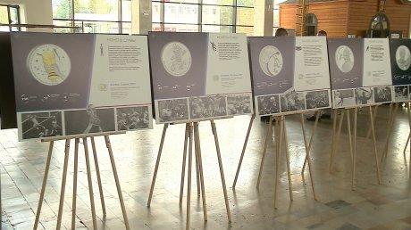 В Пензе на вокзале открылась выставка спортивных монет