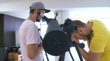 Пензенцам на выставке показали проекцию Галактики