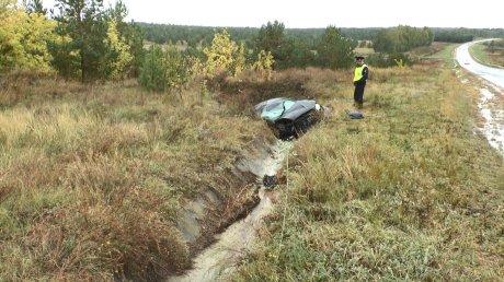 В Пензенской области иномарка после ДТП стала грудой металлолома