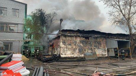 В Пензе огонь уничтожил склад стройматериалов